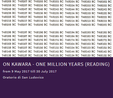 On Kawara - One million years (Reading)