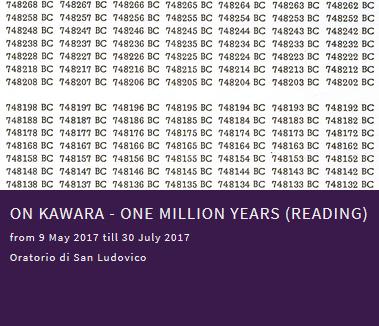 On Kawara - One million years (Reading)